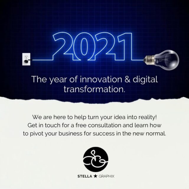 Plug into 2021! New Year, new marketing strategies, new opportunities...⁣⁣ ⁣⁣ 2020 has been unbelievably eventful. We as a society have been forced 20 years into the future within just 1 year! ⁣⁣ ⁣⁣ If you've spent this time in quarantine and remote working dreaming about starting a new business or rethinking your current one, the good news is there are things you can do today to turn your wishful thinking into reality in 2021.⁣⁣ ⁣⁣ Start by creating a lean, yet solid business plan. By creating a cohesive business plan you will gain a clear roadmap to guide your venture's path through the next few months and beyond. ⁣⁣ ⁣⁣ Additionally, gather data to help plan ahead. Data collection can illuminate your customers' needs and how to best serve them. By focusing on solving your customers' problems, you will strongly position your business to grow.⁣⁣ ⁣⁣ Use your business plan and data to help tap into changing consumer patterns and revolutionize your digital presence, including your website, social media, and much more! ⁣⁣ ⁣⁣ Need guidance to help get you off the ground and into the future? Stella Graphix can help you from the planning to development of your digital collateral. We specialize in creating a solid foundation for your business to thrive through 2021 and beyond! 💬DM us for a quote on your next project or visit our website at 💻stellagraphix.com. ⁣⁣We look forward to helping you pave your way to success!⁣⁣ ⁣⁣ .⁣⁣ .⁣⁣ .⁣⁣ .⁣⁣ .⁣⁣ #smallbusinessowner #smallbiz #businessventure #mindsetchange #fempreneur #newyear2021 #2021business #2021businessgoals #businessgoals #businessgoals2021 #hollandlandingbusiness #eastgwillimburybusiness #yorkregionbusiness #yorkregionsmallbusiness #yorksimcoe #eastgwillimbury #sharonontario #bradfordontario #newmarketbusiness #newmarketsmallbusiness #newmarketontario #womeninbusinessclub #womeninbusinesscanada #womeninbusinesses #yorkregionontario #innisfil #hollandlanding #keswick #georginaontario #keswickontario ⁣⁣